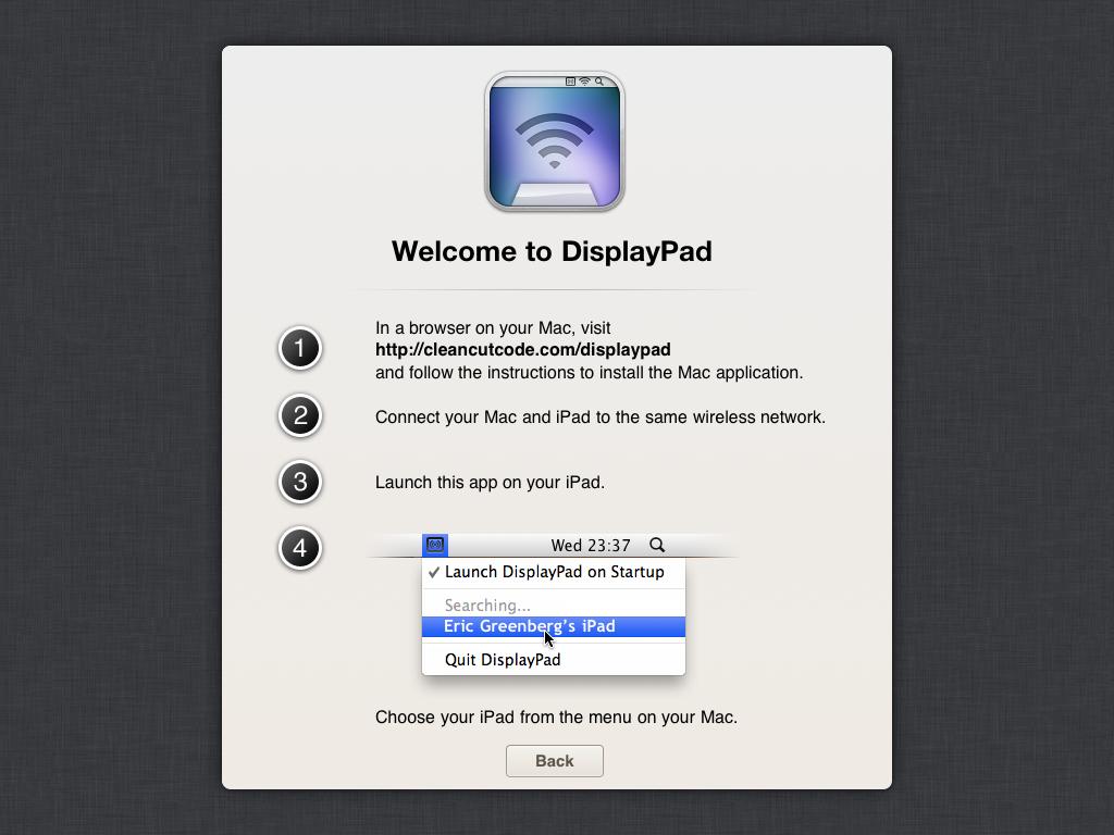 displaypad instructions