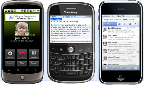 android blackberry iphone
