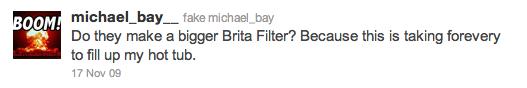 Michael Bay Tweet