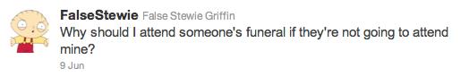 Stewie Tweet