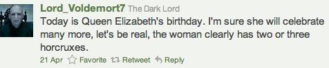 Voldemort Tweet 1