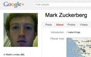 Zuck on Google+