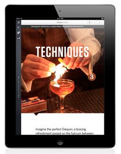 Speakeasy Cocktails for iPad: Techniques