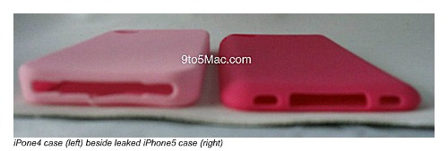 iphone4 case next to leaked iPhone5 case