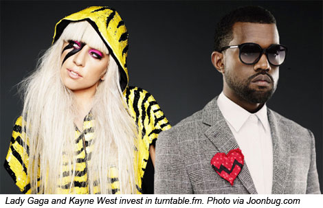 Kayne West and Lady Gaga invest in Turntable.fm