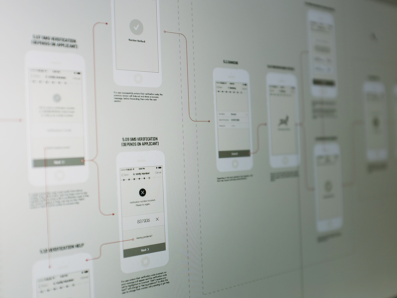 App design whiteboard for medical app development