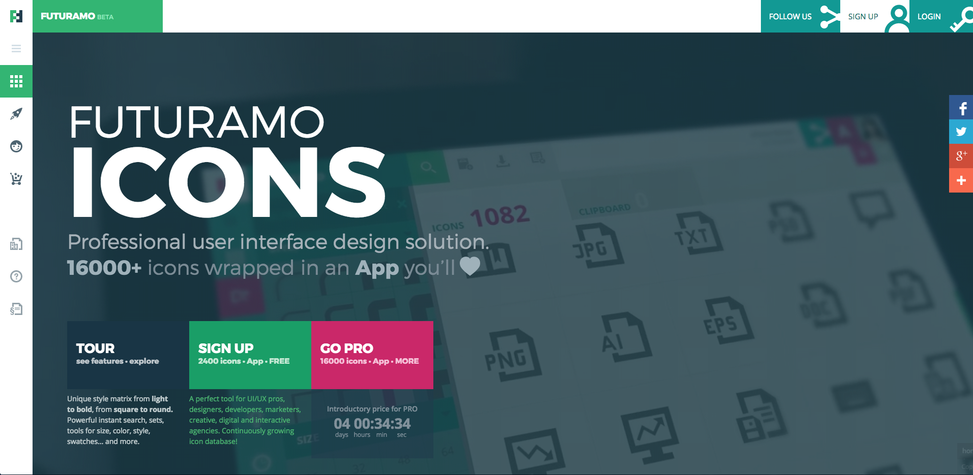 Futuramo Icons App Beta Site