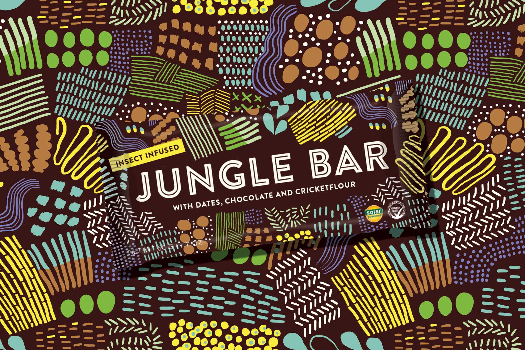 Jungle Bar Logo Insect Protein Snack Fueled Collective NYC