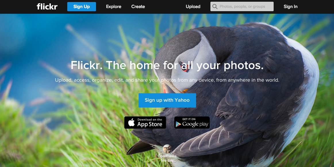 Flickr Platform for Sharing Photos Yahoo