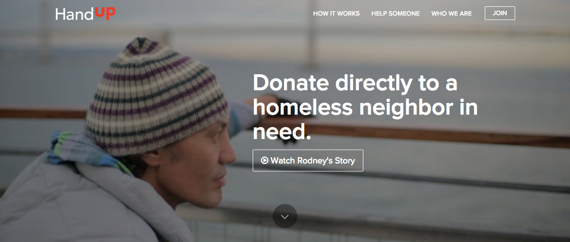 HandUp App for the Homeless
