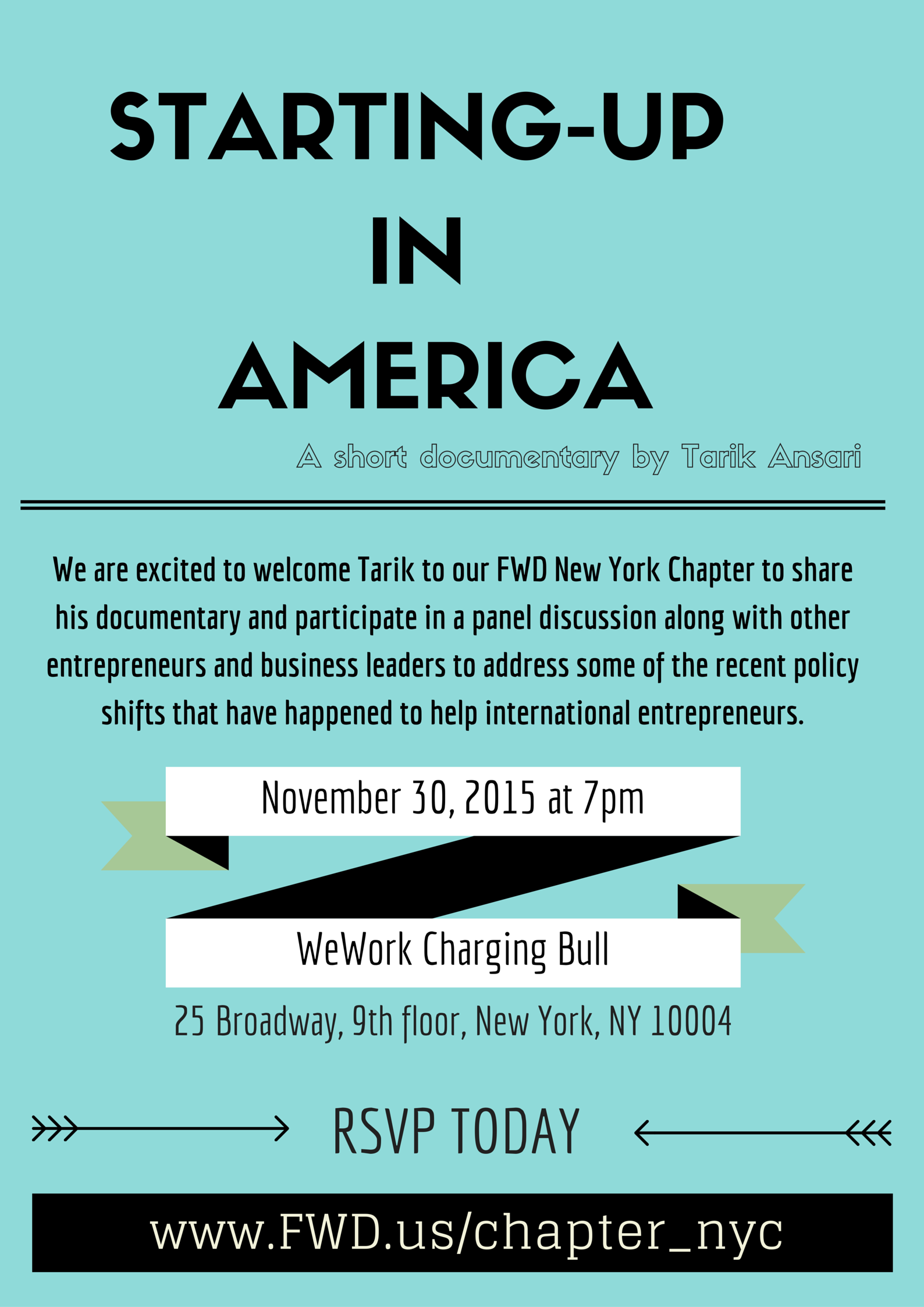 Starting-Up in America flyer front