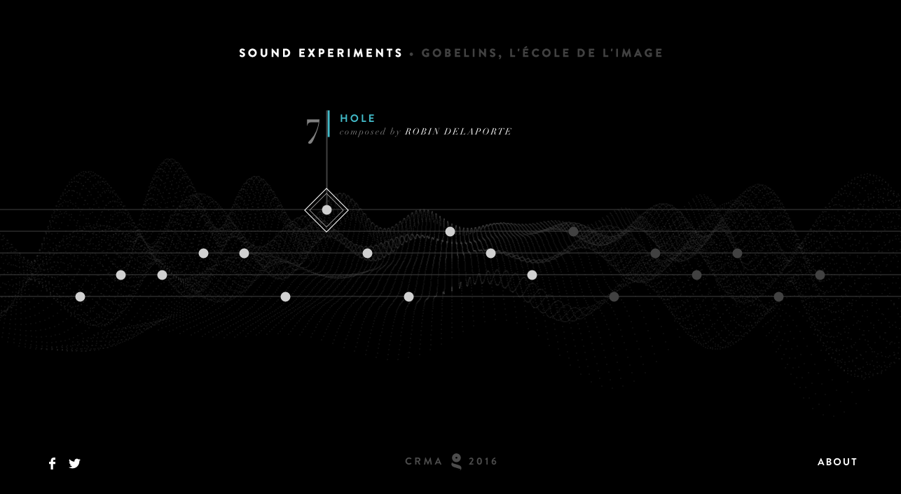 Gobelins Sound Experiment Homepage