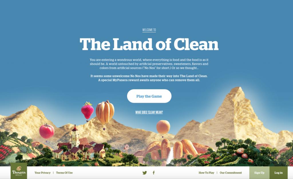 Panera land of clean