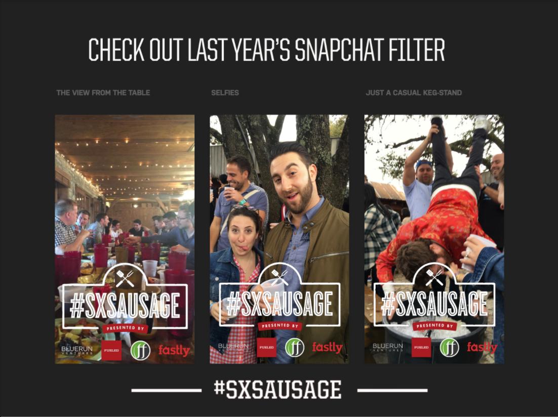 2016 SXSW BBQ geofilters.