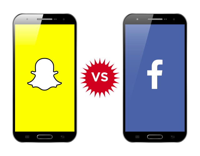 Snapchat App vs Facebook App
