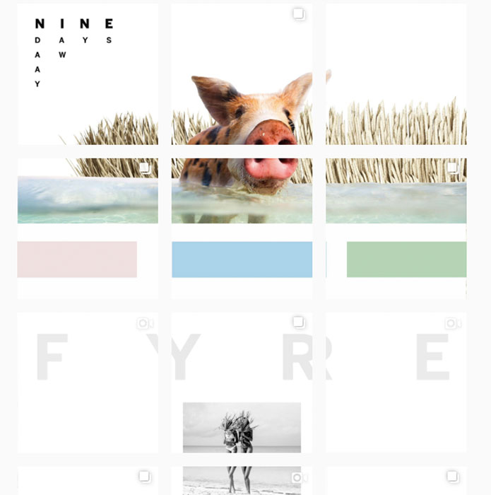 instagram tiling on the fyre festival feed