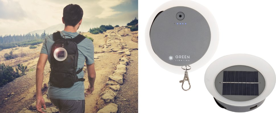 Greenlighting brand solar mobile phone charger