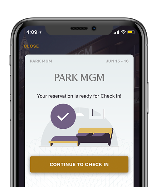 Preview of MGM app