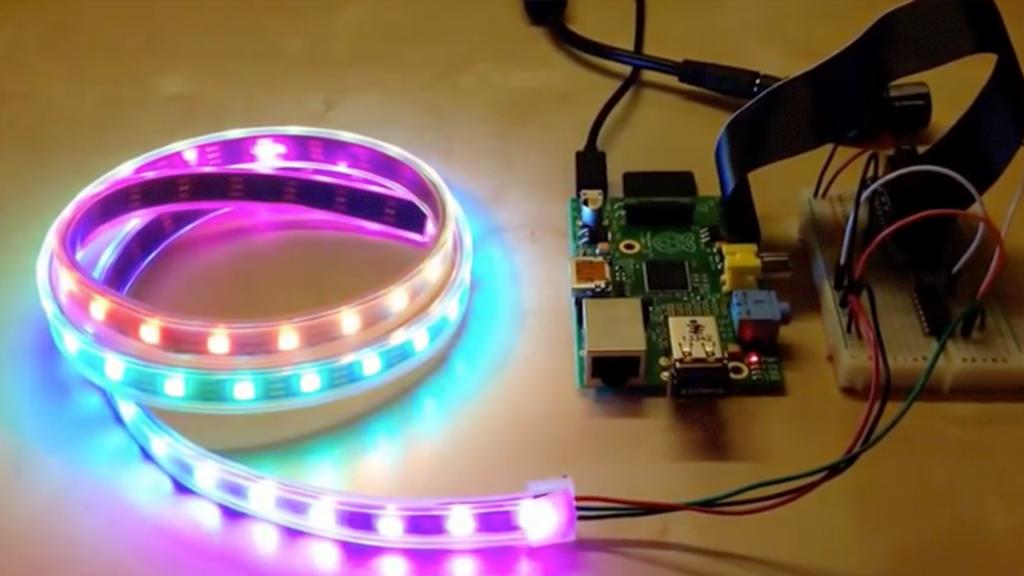 raspberry pi controlling LED light strip to replace alarm clock