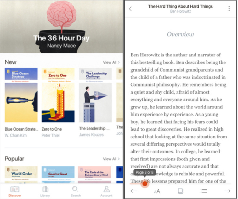 Most hipster reading app