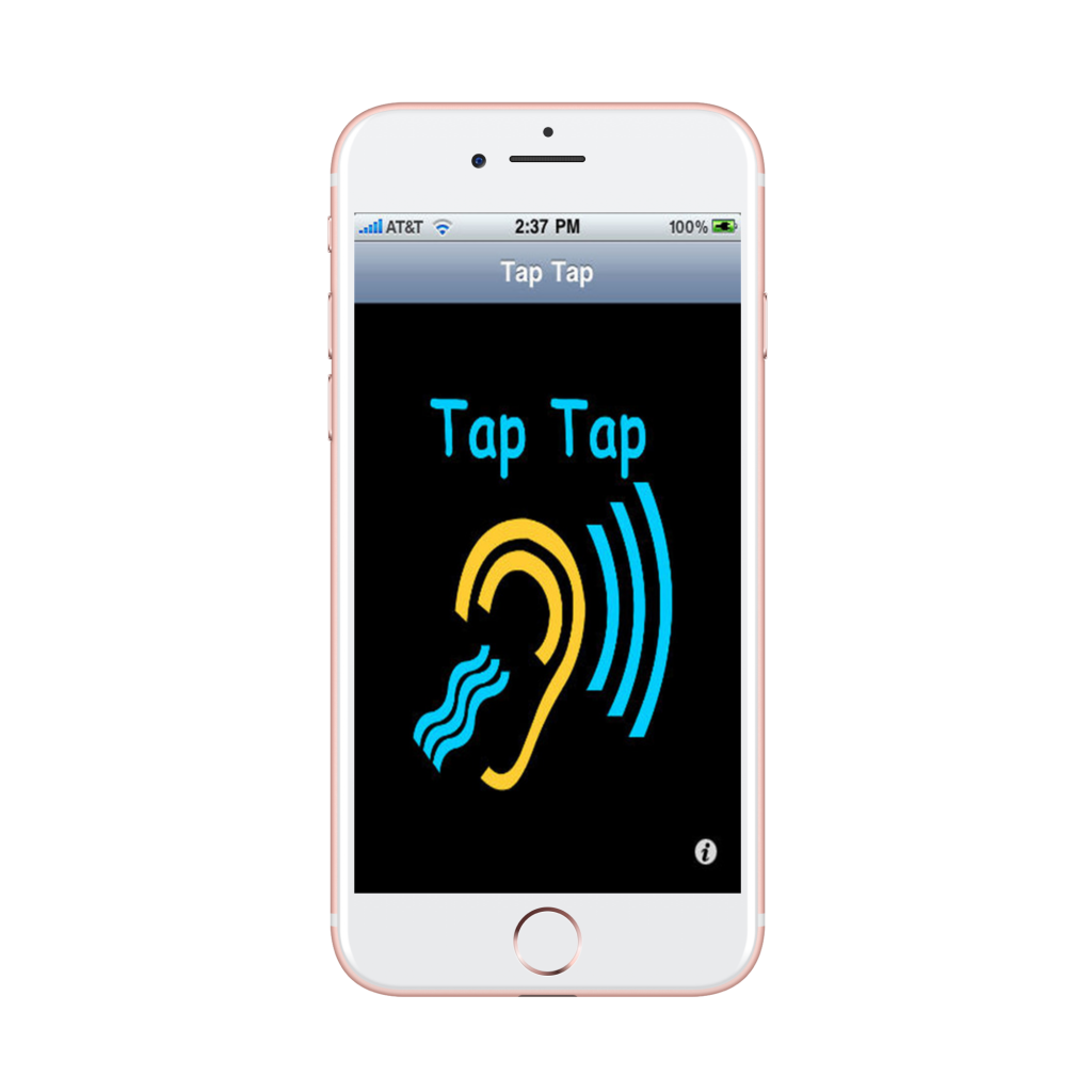 screenshot of taptap app on mobile phone converting sounds into vibrating and flashing alerts