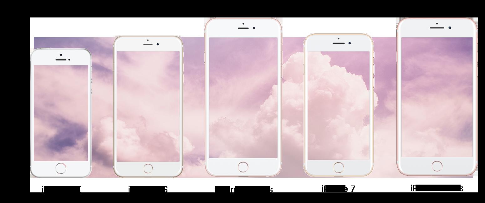 iphone SE, iphone 6s, iphone 6s plus, iphone 7 and iphone 7 plus