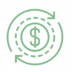 symbol of dollar sign showing financial independence