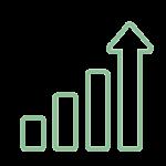 symbol of arrows trending upward to represent credit score