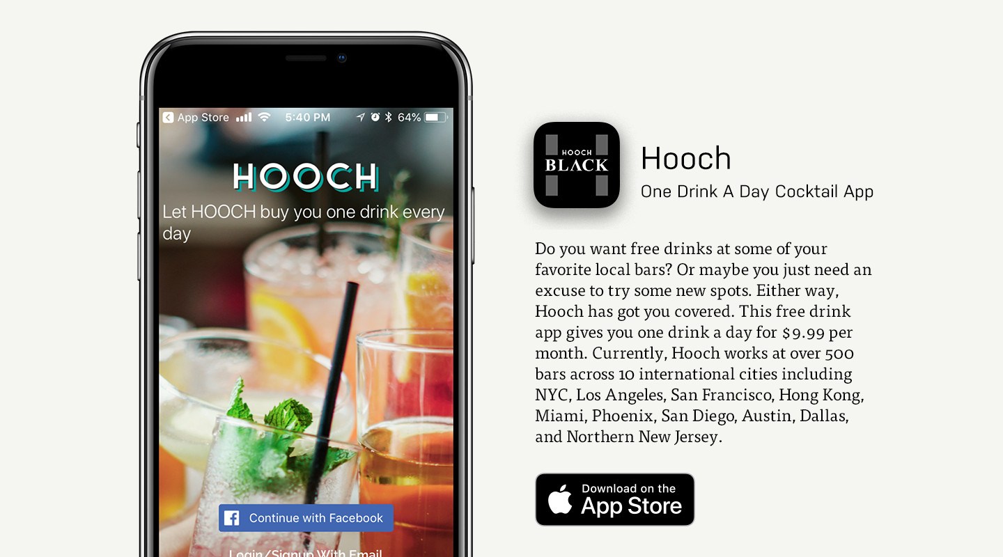 Hooch Cocktail Mobile App