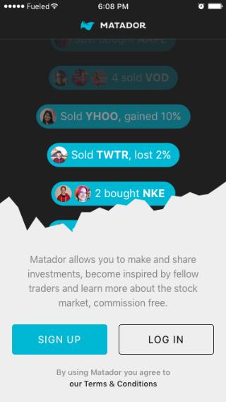matador screenshot fintech project management app