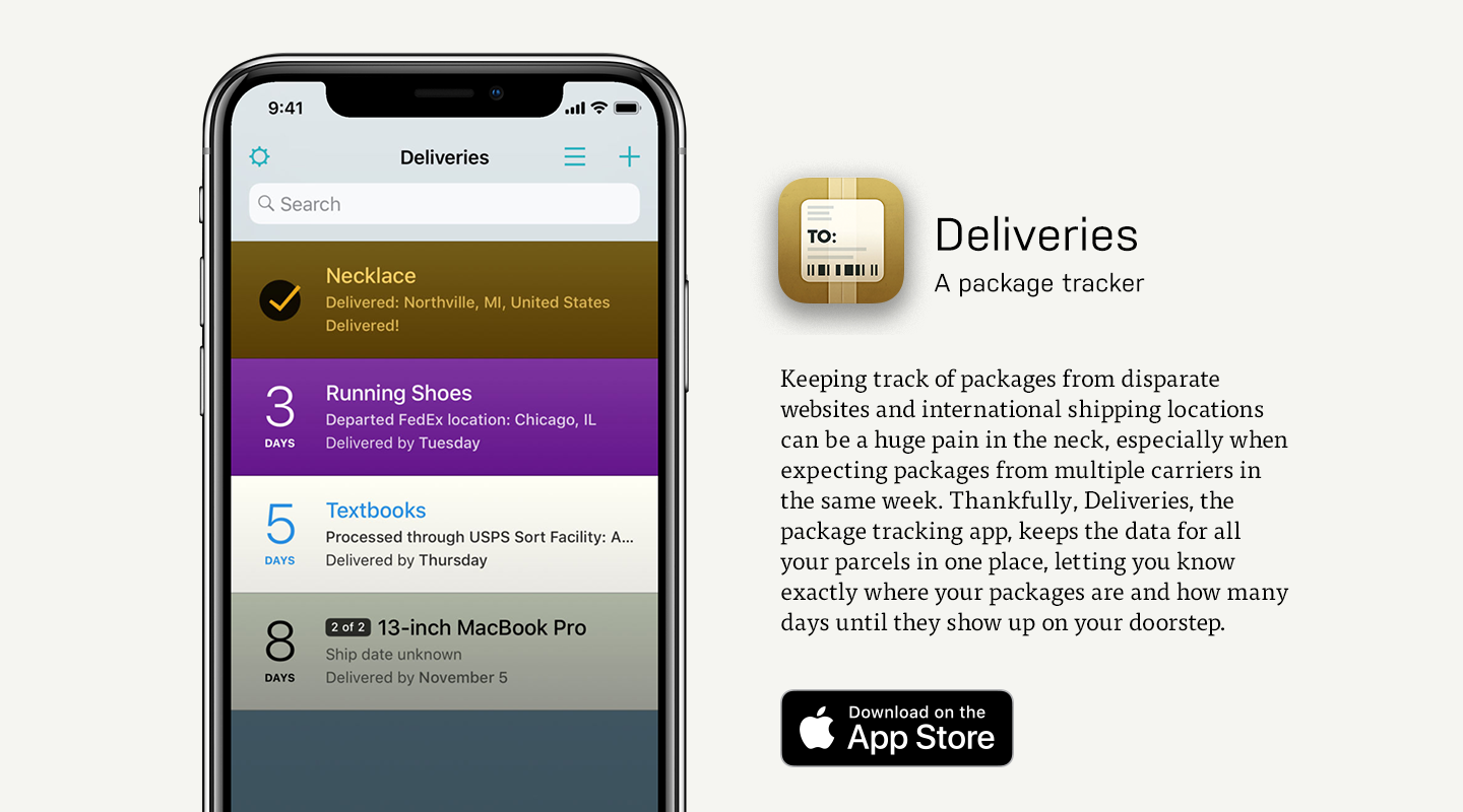 Deliveries Package Tracker Mobile App