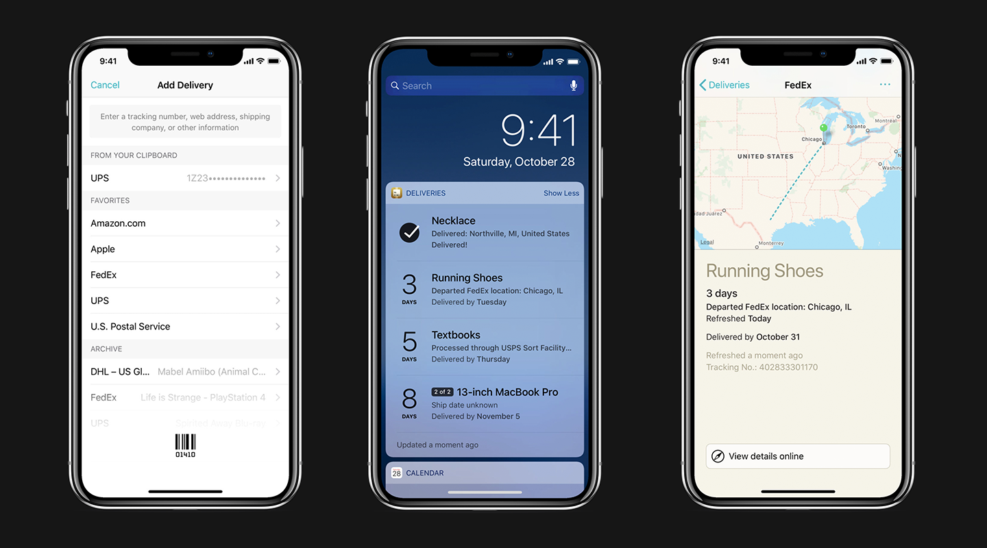 Deliveries Package Tracker Mobile App Screenshots