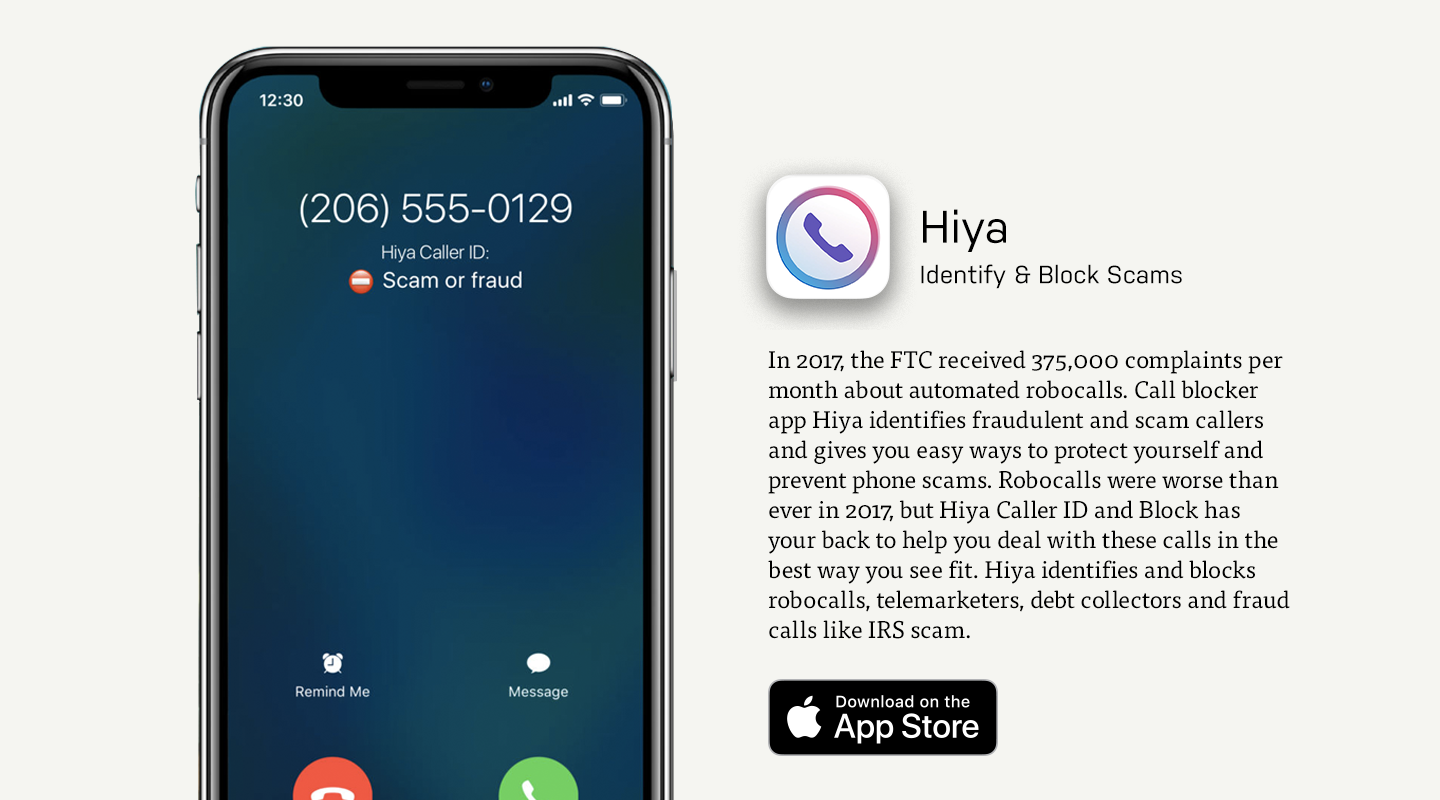 Hiya Security Mobile App