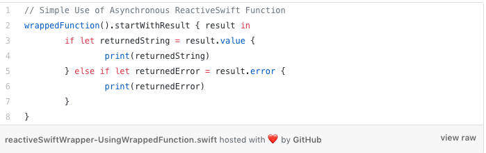 asynchronous reactiveswift function