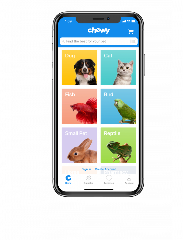one of the best apps for dog lovers chewy food ordering