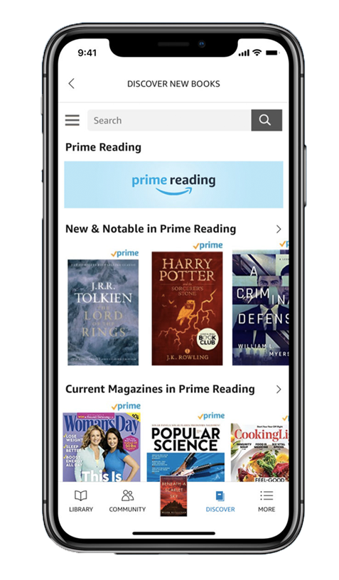 amazon prime best apps for book lovers