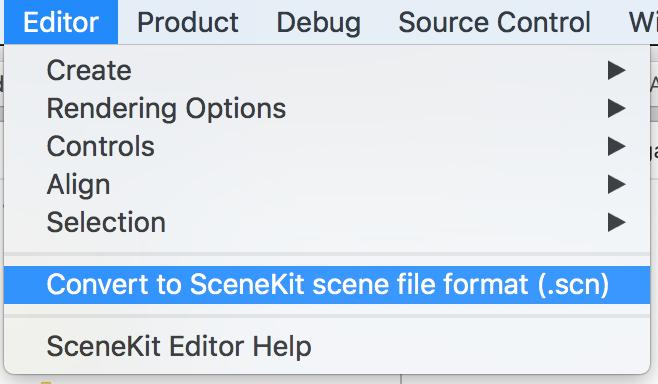 editing importing dae scenekit