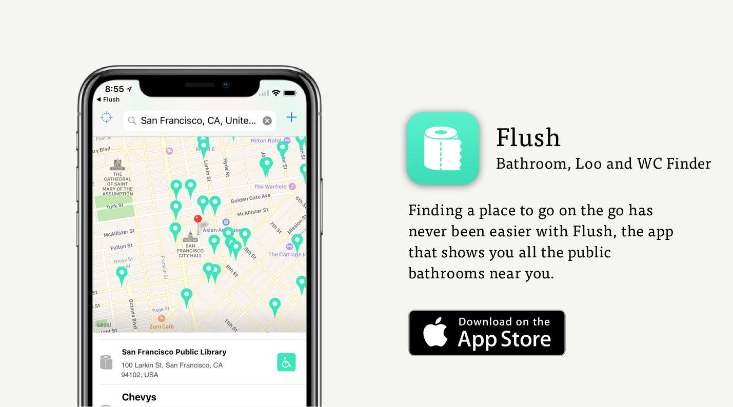 Flush Toilet Finding App