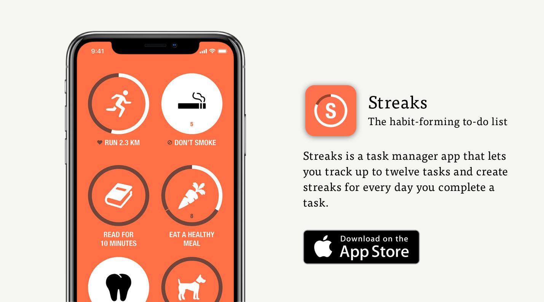 streaks fun task manager app