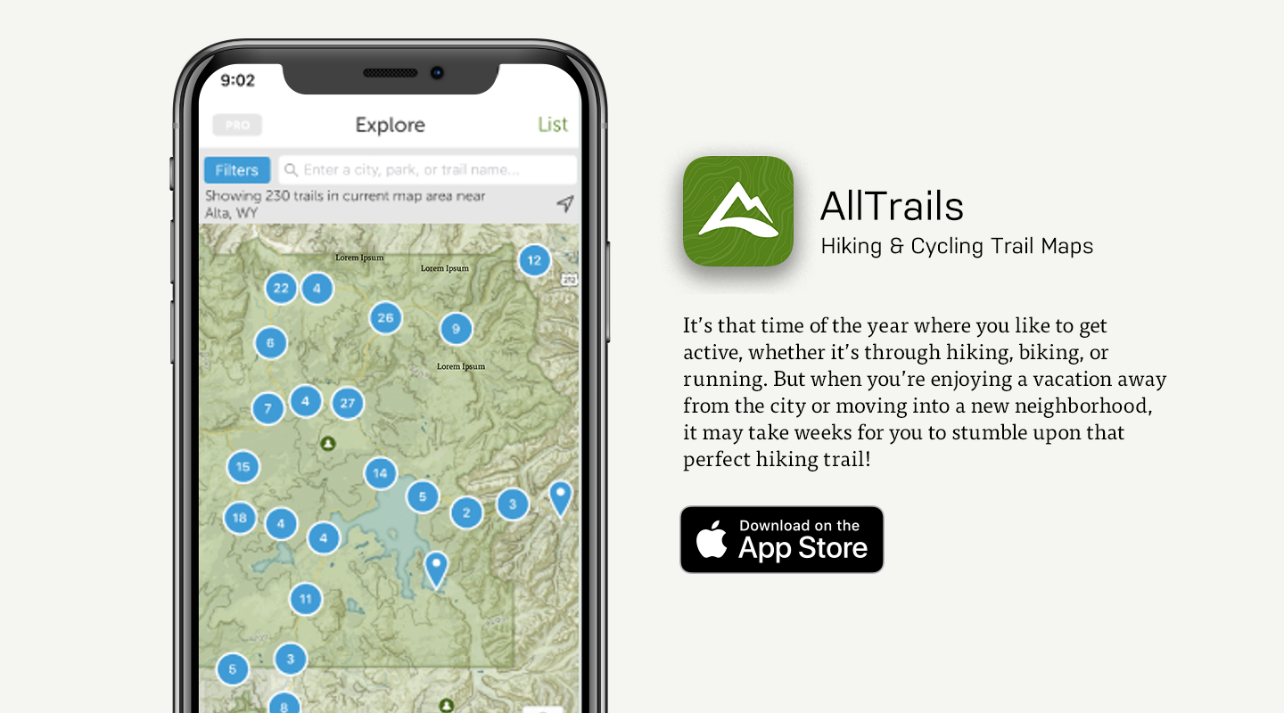 hiking guide app