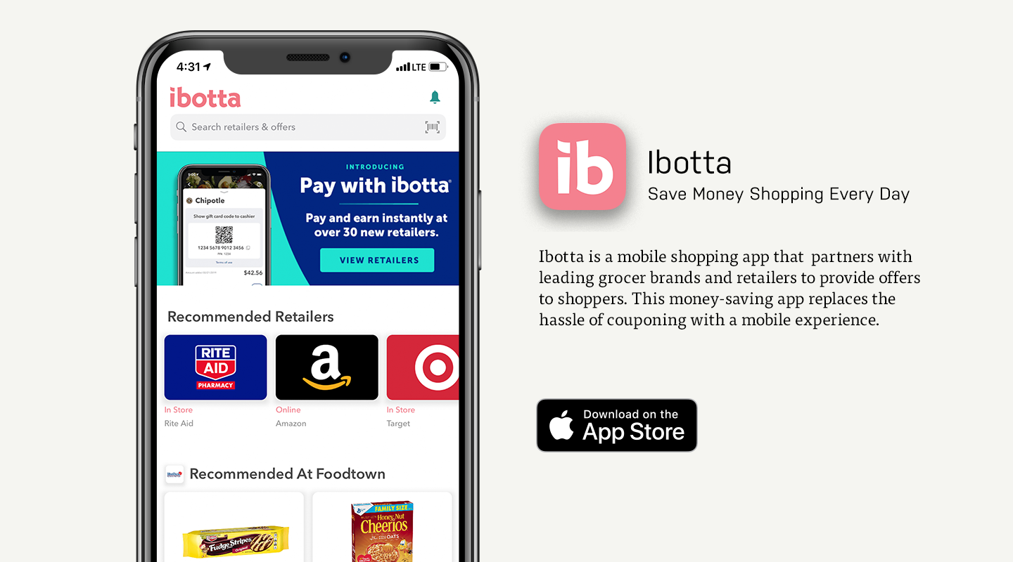 iOS preview of Ibotta app