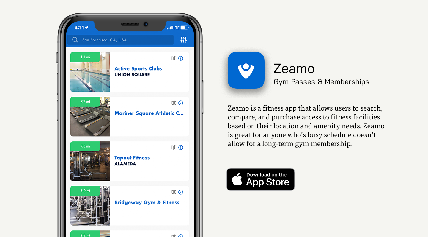 iOS preview of Zeamo