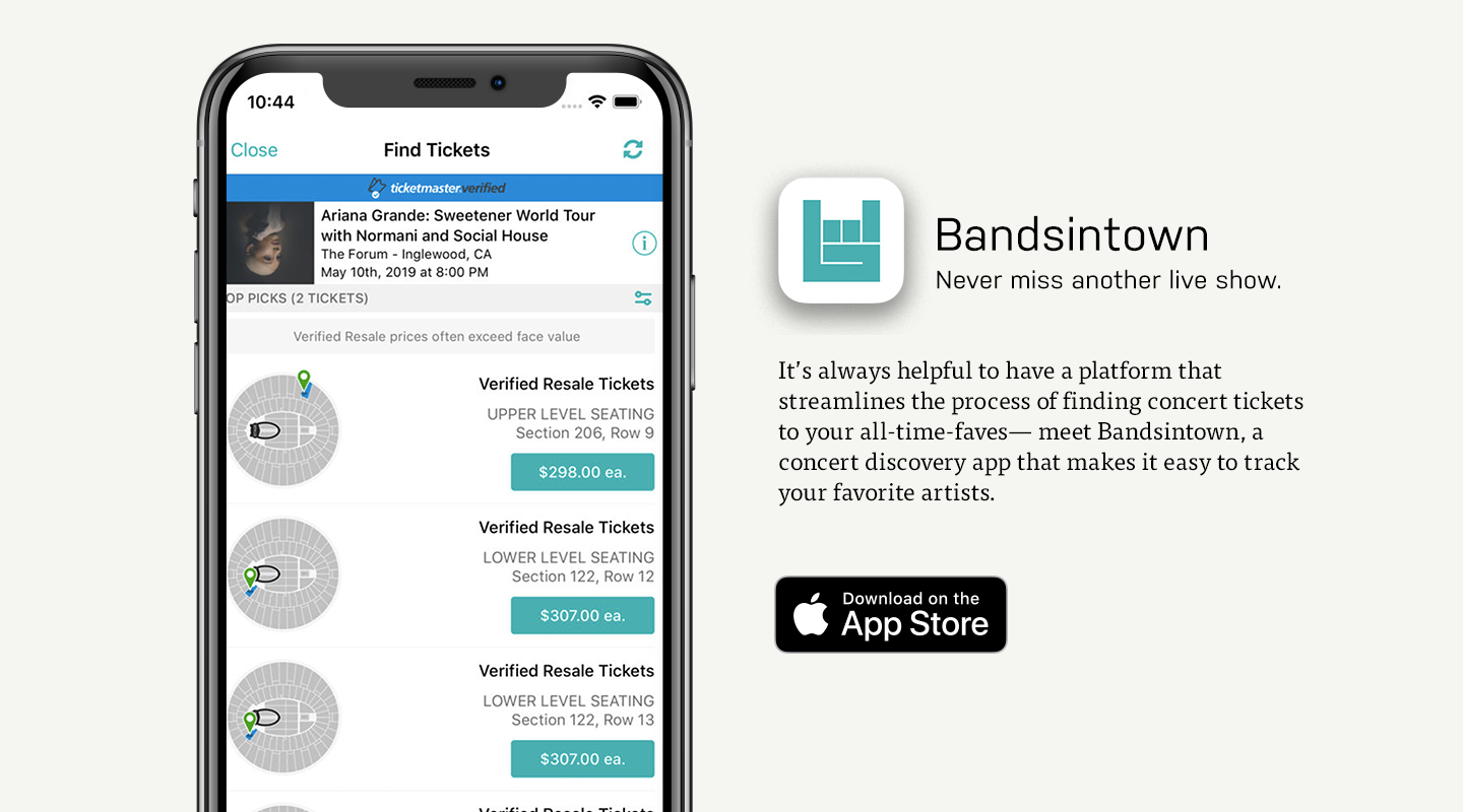 iOS preview of Bandsintown