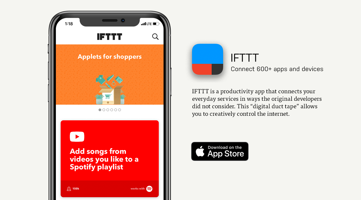 iOS preview of IFTTT app