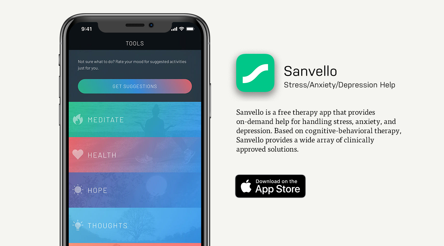 App Store preview of Sanvello
