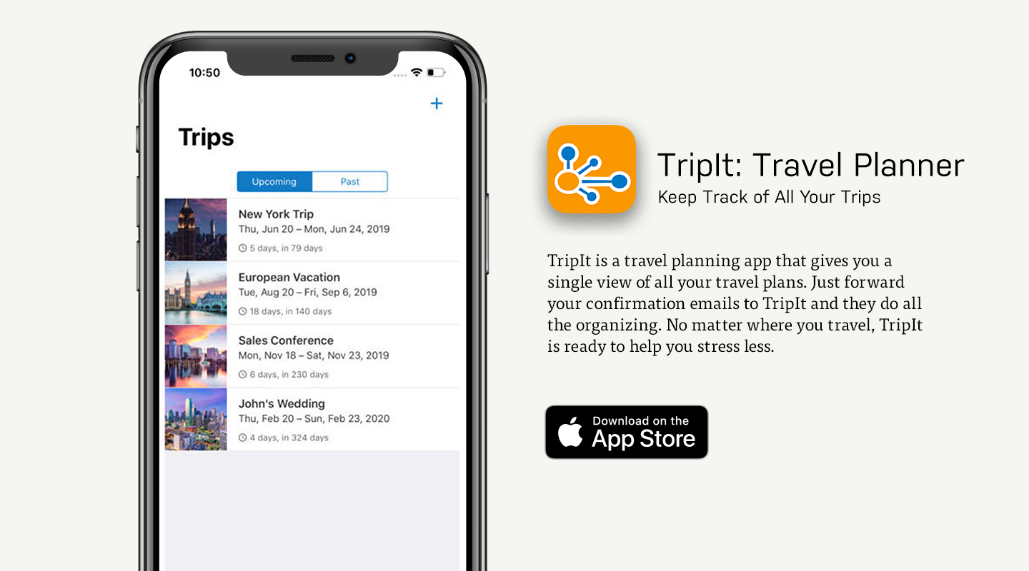 iOS preview of TripIt app