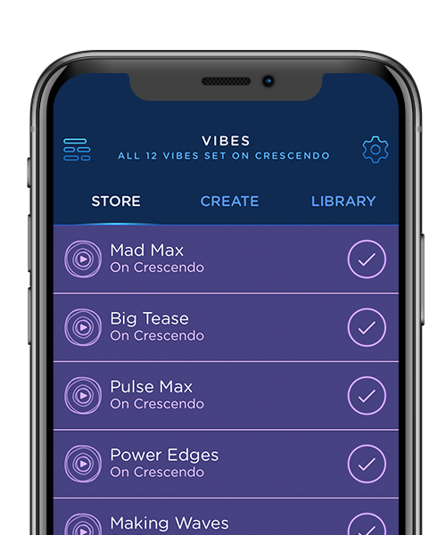 Preview of MysterVibe app