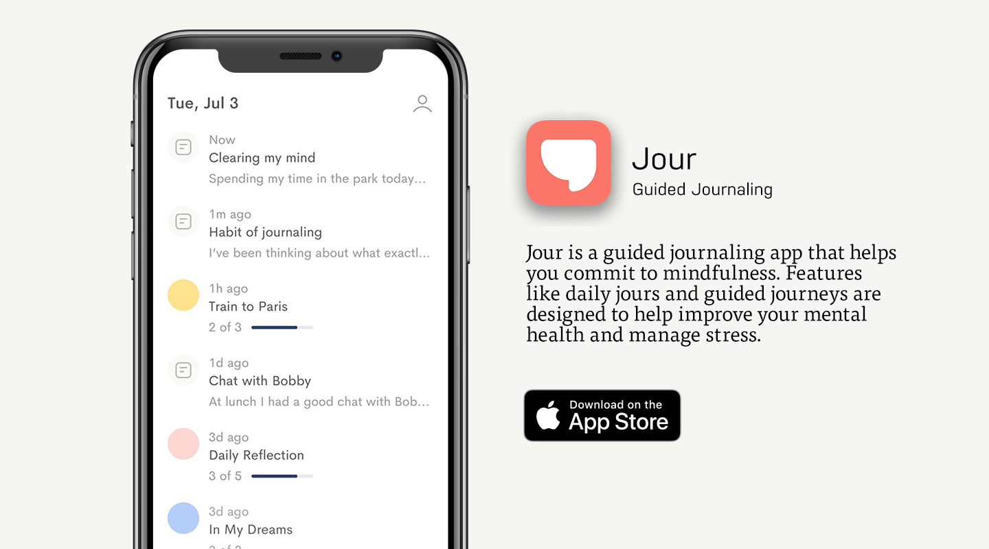 App Store preview of Jour app