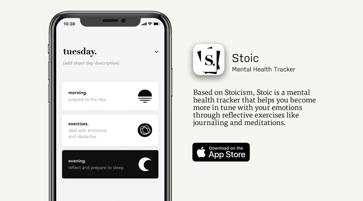 App Store preview of Stoic