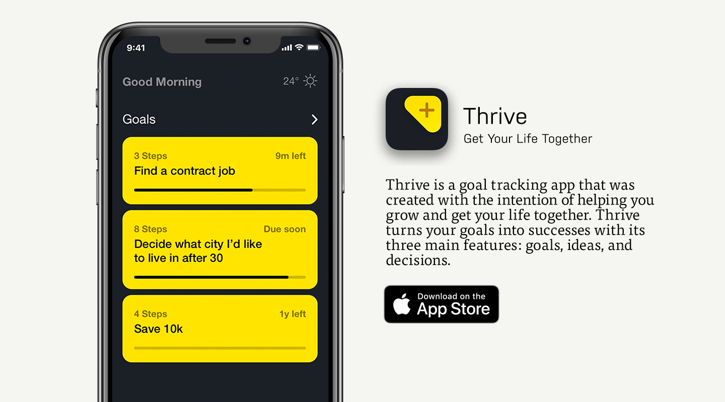 App Store preview of Thrive
